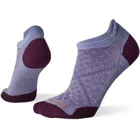Smartwool Run Zero Cushion Low Ankle Socks Women, violeta/gris